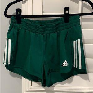 Adidas Green Track Running Shorts size M